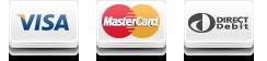 Visa, Mastercard, Debit, Fleet cards, Cash