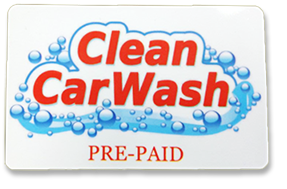 Clean Car Wash pre-paid card