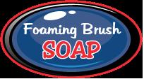 Foaming brush soap