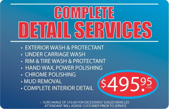 Clean Car Wash - Complete detail services package