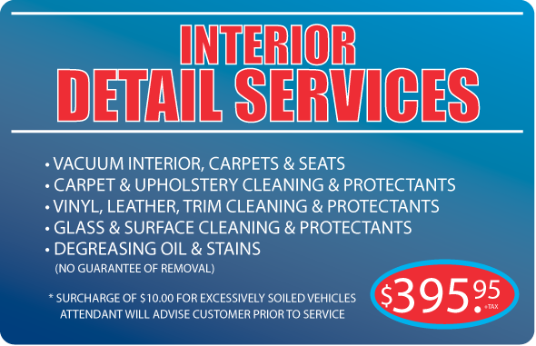 Clean Car Wash - Interior detail services package